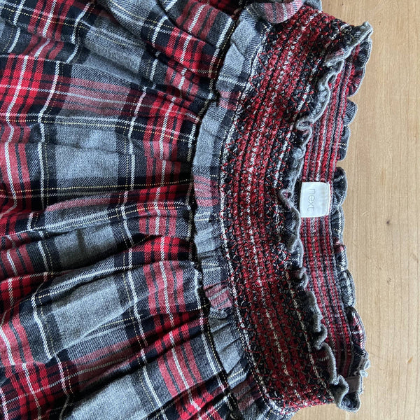 Next girls' plaid pleated mini skirt, age 7