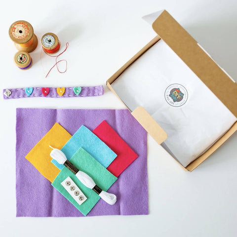 Sew + Share Four Friendship Bracelets. A Kindness Craft Kit!