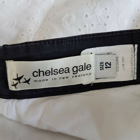 Chelsea Gale Broderie Anglaise Dress 10 12
