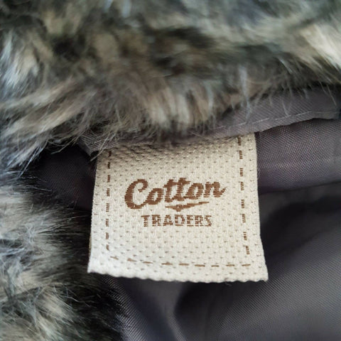 Cotton Traders Faux Fur Coat Grey 12