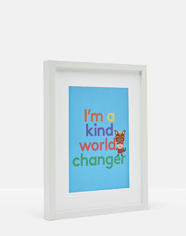 Stib Kind World Changer A4 Print