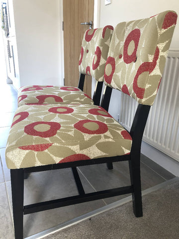 Fabric casual dining chairs