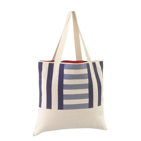 Beach Bag | Navy & Pale Blue