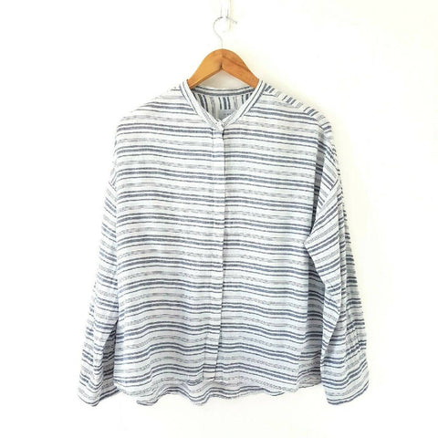 Jigsaw Stripped Blouse Cotton Medium