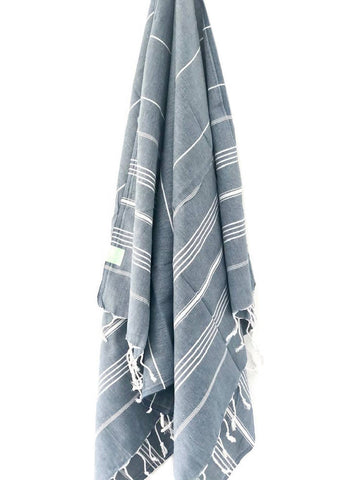 Navy Stripe Hammam Towel