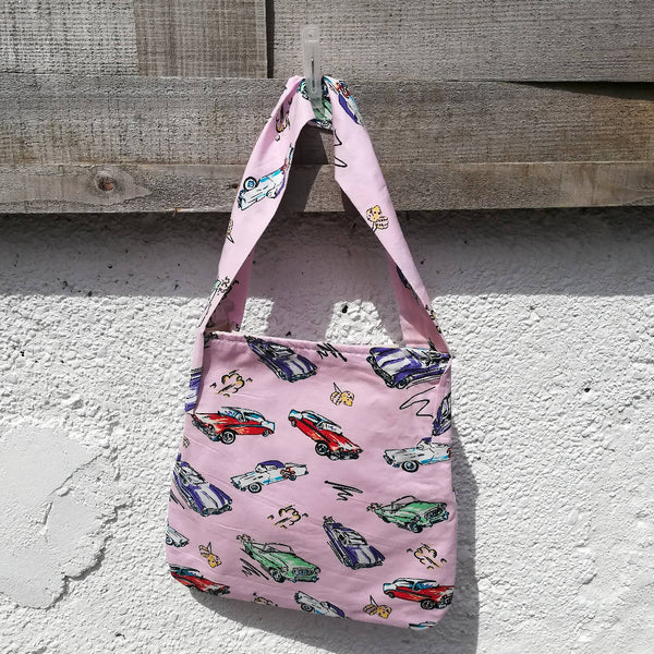 'Smallish' Tote Bag - Retro Cars