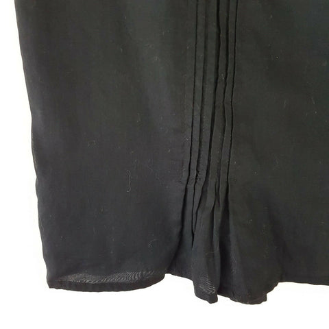 Miu Miu Black Pencil Skirt Pleated 10 12