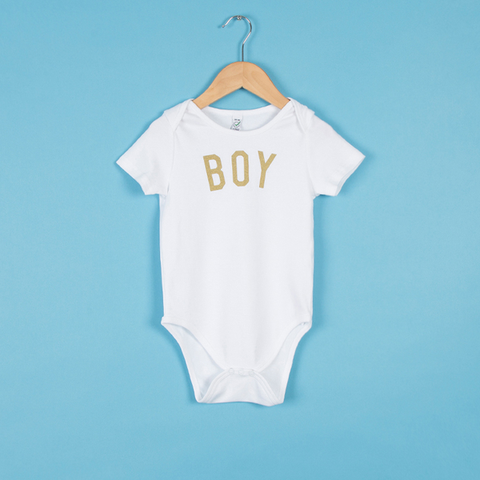 The White & Gold BOY Bodysuit