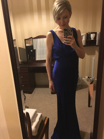 GHOST luxurious royal blue maxi gown
