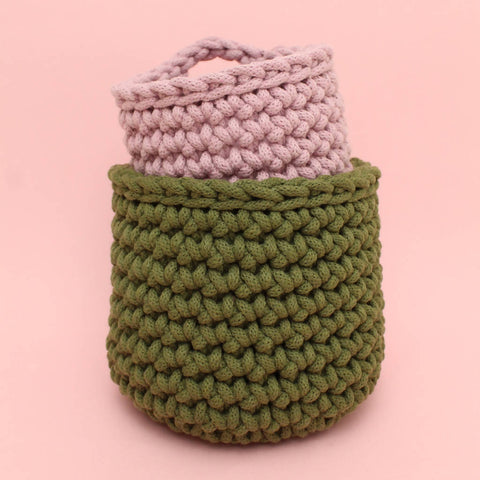 Crochet Basket Duo Kit