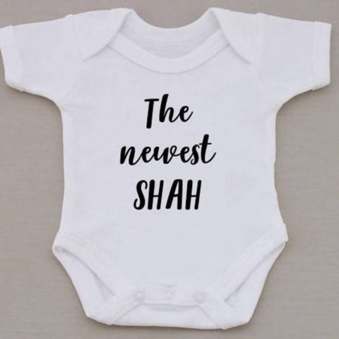 Personalised The Newest... Babygrow