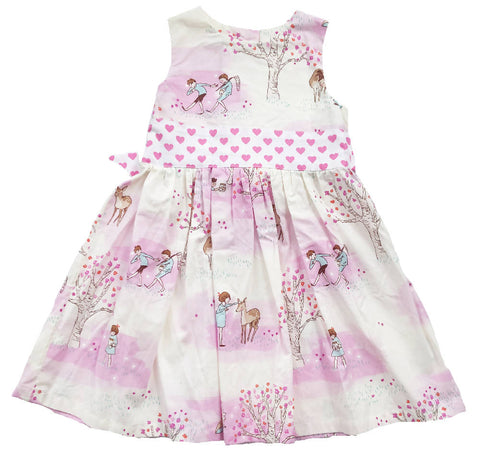 SOCIAL BUTTERFLY HANDMADE EXPLORER PRINT DRESS 2-3 YEARS