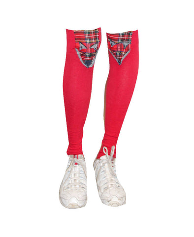 PRETTY DISTURBIA PUNK GRUNGE RED CUTE FOX SOCKS