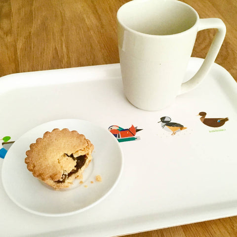 Small Dabbling Ducks eco wooden tray