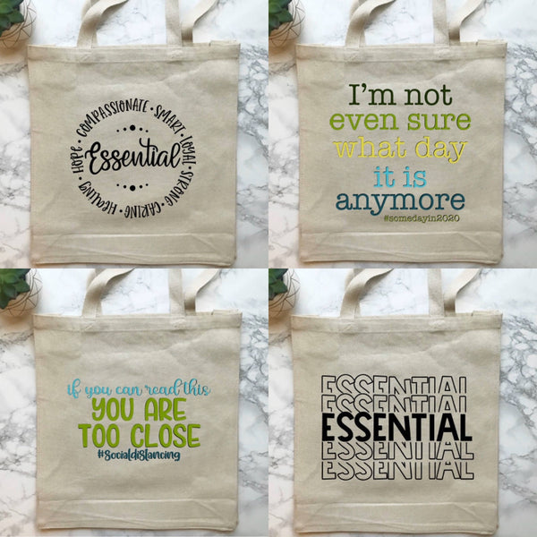 Lockdown 2020 Slogan Tote