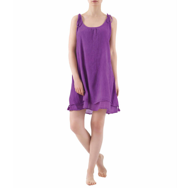 Cotton Summer Dress | PURPLE