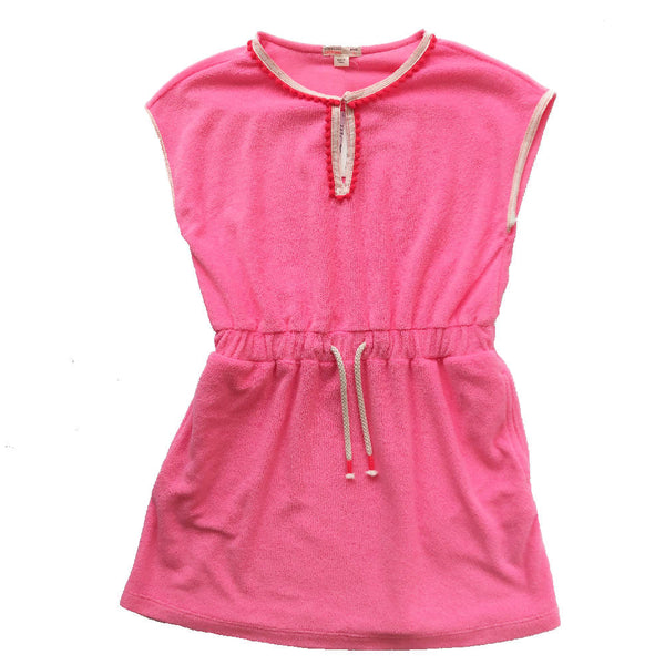 CREW CUTS PINK TOWELLING DRESS 6 YEARS