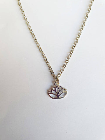 Lotus Pendant and Chain