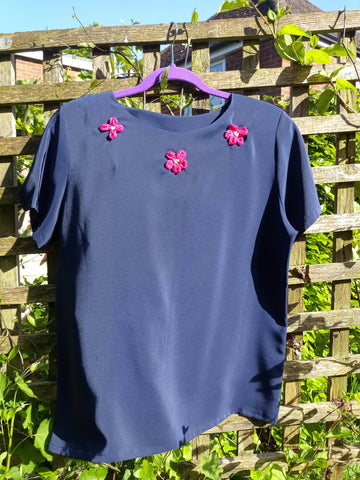 Upcycled top size 14