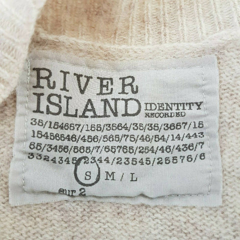 River Island Lambswool Angora Cardigan Small