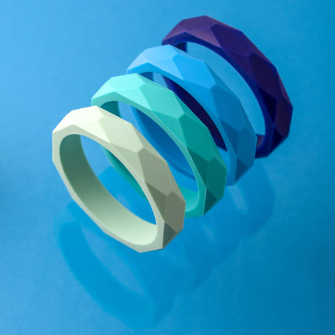 Geometric teething bangle