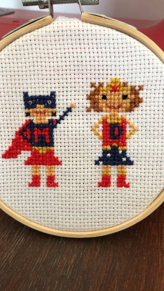 Superhero Kids Custom Cross Stitch