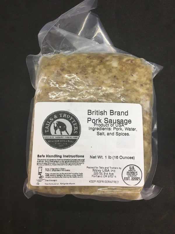 British Brand Pork Sausage