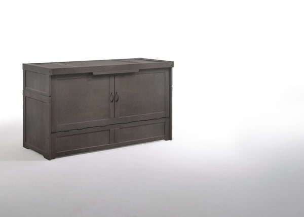 Murphy Cube Cabinet Bed - Stonewash