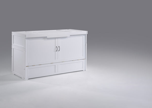 Murphy Cube Cabinet Bed - White