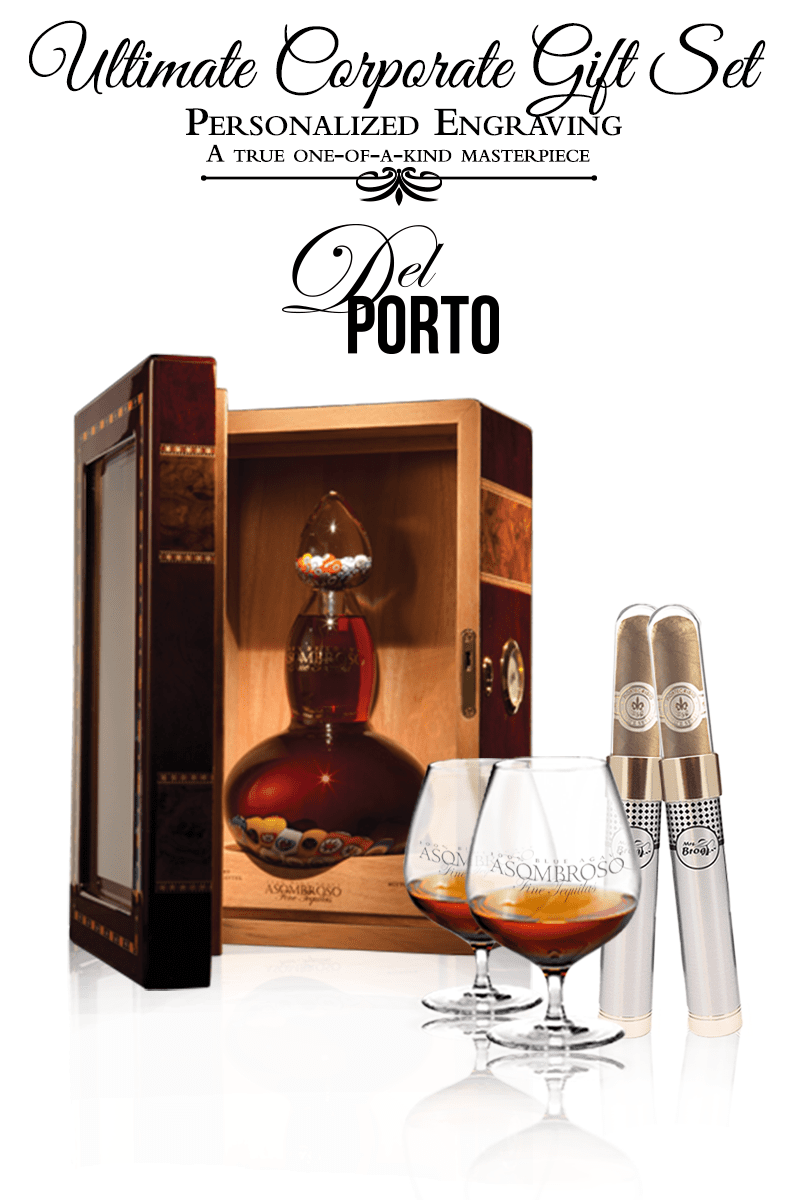 Corporate Gift Set - Del Porto Extra Anejo w/Cigar