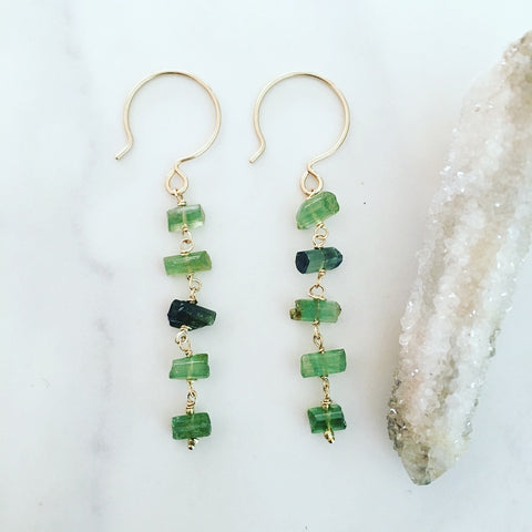 Tourmaline Ladder Earrings