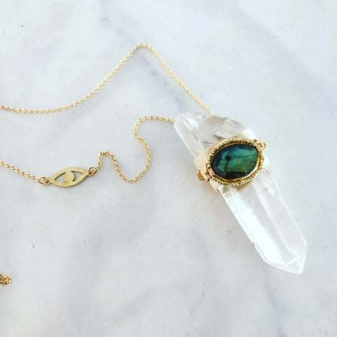 Quartz Eye Necklace