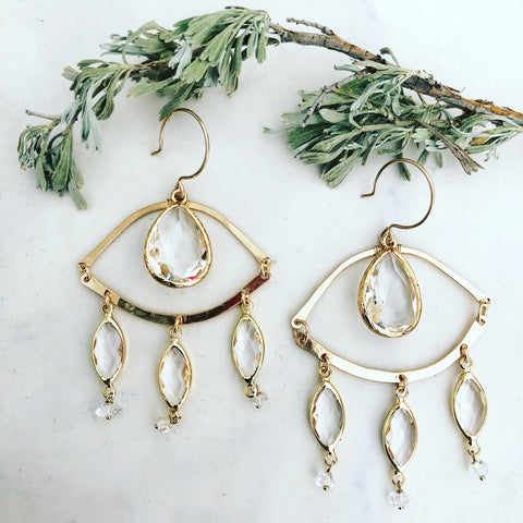 Clear Eyes Earrings