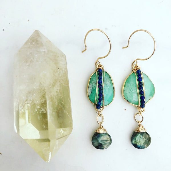 Chrysoprase Lala Earrings