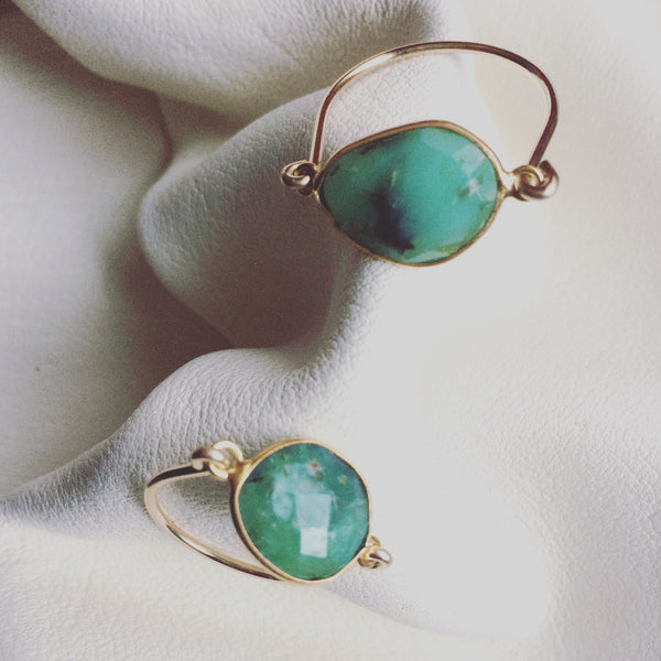 Chrysoprase Harp Ring