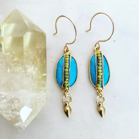 Turquoise Lala Earrings