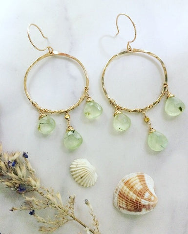 Prehnite Weaver Earrings