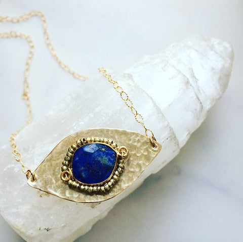 Lapis Evil Eye Necklace