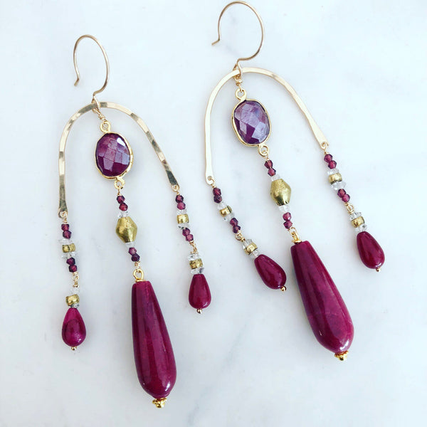 Ruby Paradiso Earrings