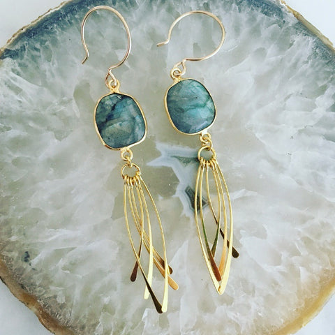 Labradorite Sail Earrings