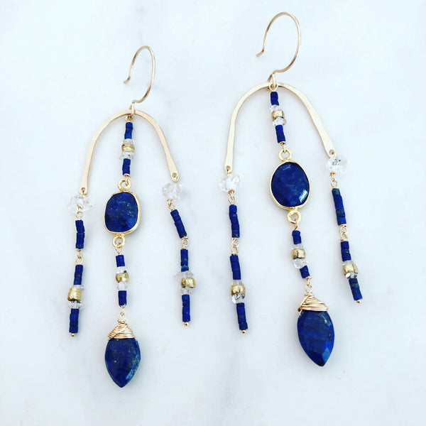 Lapis Paradiso Earrings
