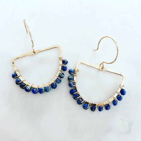 Lapis Chara Earrings