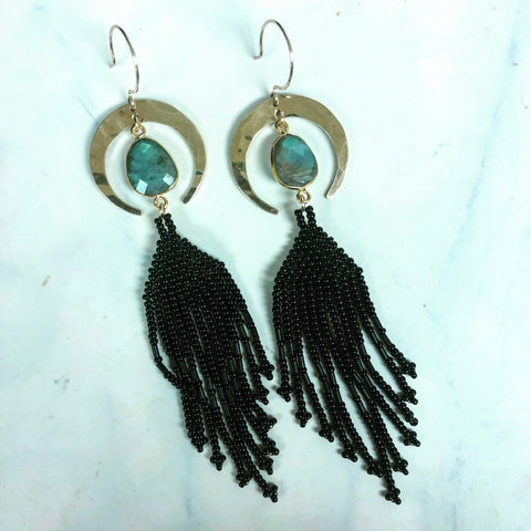 Dark Crescent Earrings