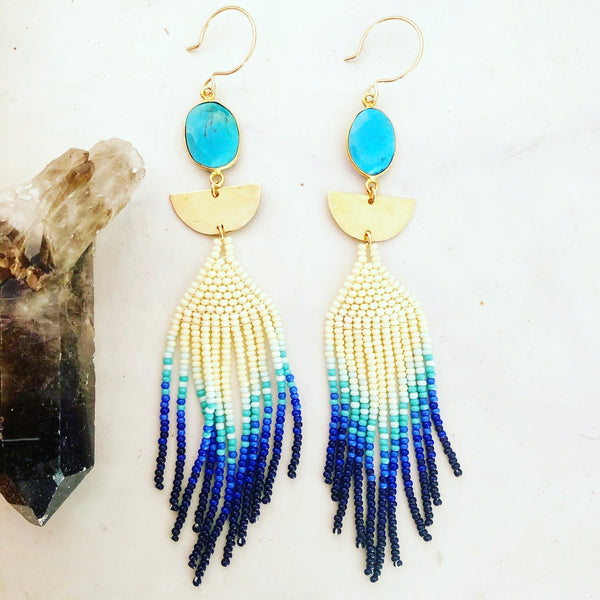 Blue Fade Earrings