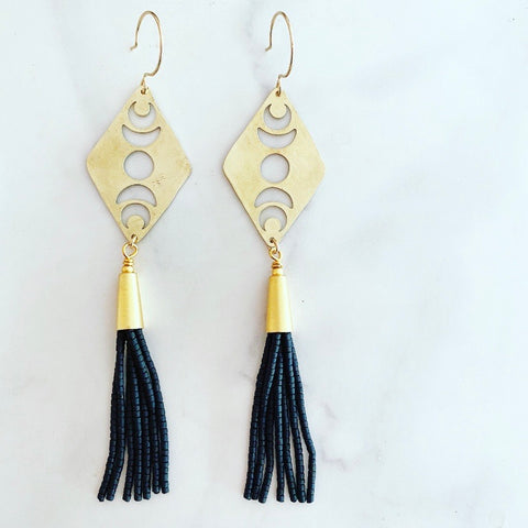 Black Phases Earrings
