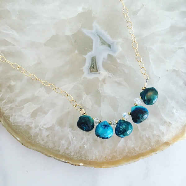Turquoise Rain Necklace