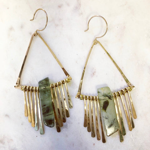Prehnite Chime Earrings