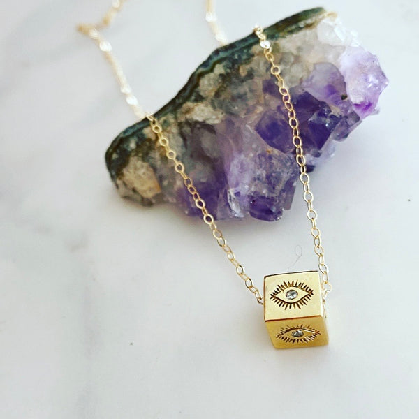 Clear Eye Necklace