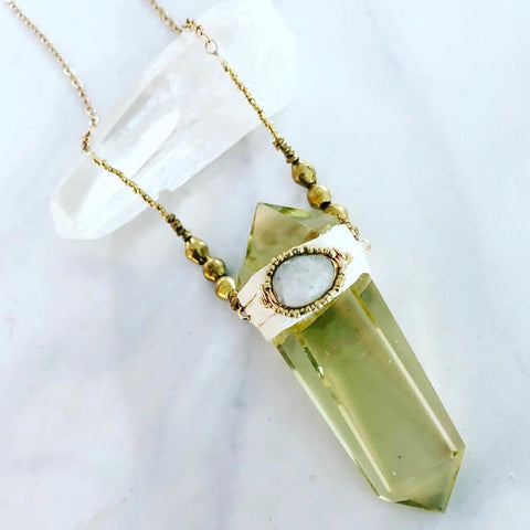 Citrine Light Necklace