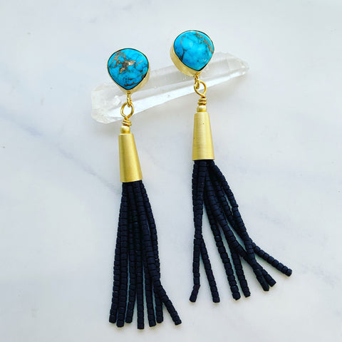 Pink Opal Tab Earrings
